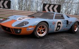 Картинка 1969, ford, gt40