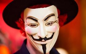 Обои анонимус, фон, маска