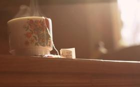 Обои чай, пар, кружка, чашка