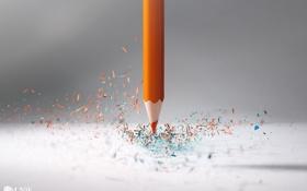 Картинка макро, частицы, карандаш