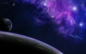 Обои звезды, туманность, планеты, nebula