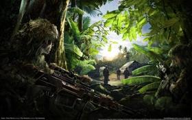 Обои Оружие, Снайпер, Засада, Sniper Ghost Warrior