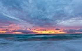 Обои небо, закат, океан, сергей доля