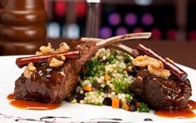 Обои еда, мясо, ресторан, рис, food, meat