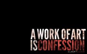 Обои минимализм, слова, цитата, confession