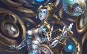 Обои девушка, механизм, league of legends, Lady of Clockwork, Orianna
