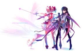 Обои оружие, Девушки, mahou shoujo madoka magica, базука kaname madoka akemi homura