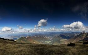 Обои горы, долина, Last jump