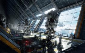 Обои skyline, ship, Titanfall, IMC