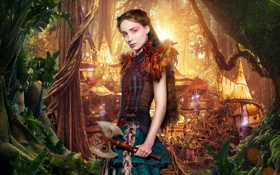 Обои Tiger Lily, Pan, Пэн: Путешествие в Нетландию, Руни Мара, приключения, Rooney Mara, фэнтези