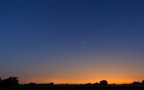 Картинка небо, звезды, закат