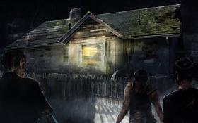 Обои свет, ночь, забор, зомби, проволка