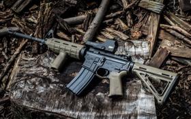 Картинка винтовка, фон, штурмовая, полуавтоматическая