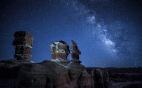 Обои космос, звезды, природа, млечный путь, Utah