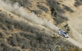 Картинка гонка, Белый, Спорт, Volkswagen, Скорость, WRC, Rally