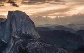 Картинка пейзаж, горы, природа, Grand, California, Yosemite Valley, Sunrise