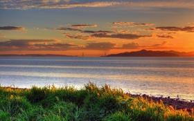 Картинка море, трава, вода, горы, фото, города, океан