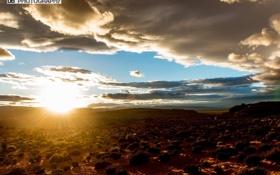 Обои облака, пустыня, Небо