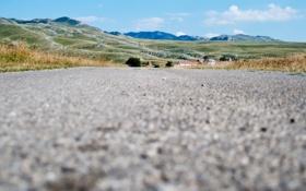 Картинка дорога, горы, небо, асфальт