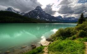 Обои Canada, water, mountains, scenery, nature., Banf