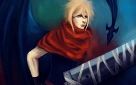 Картинка оружие, меч, демон, парень, Final Fantasy, cloud strife, art