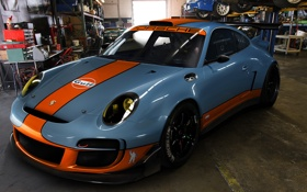 Обои Porsche, спорт, гараж, тюнинг, Gulf, GT3