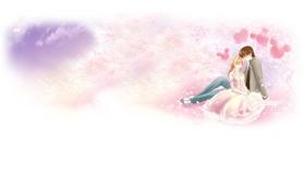 Картинка любовь, нежность, аниме, арт, пара, двое, свидание