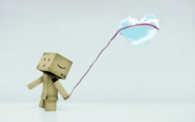 Обои настроение, коробка, сердце, облако, amazon