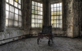 Картинка фон, комната, коляска