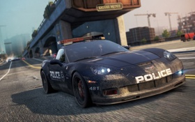 Обои game, 2012, auto, police, cop, Chevrolet Corvette Z06, Most Wanted
