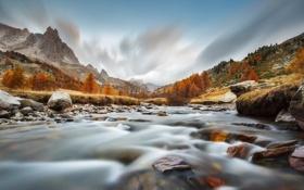Картинка горы, природа, река