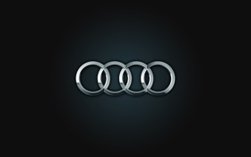 Картинка logo, silver, Audi, rings, ауди, black