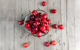 Обои лето, миска, фрукты, черешня, веточки