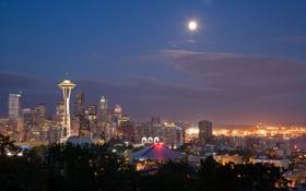 Картинка Seattle, город, city, USA, Washington