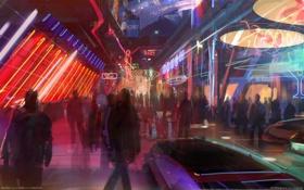 Картинка art, неон, Mass Effect 2, game