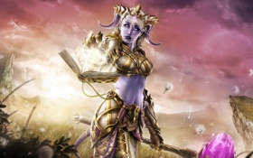 Картинка девушка, WoW, World of Warcraft, Warcraft, Paladin, Draenei, Warlords of Draenor