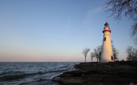 Картинка пейзаж, маяк, United States, Ohio, Lakeside