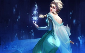 Обои девушка, Disney, frozen, Дисней, Elsa
