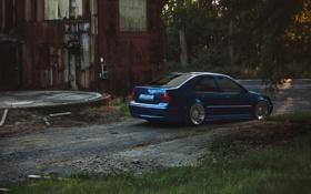 Обои синий, тюнинг, blue, фольксваген, jetta, MK4, volkswagen