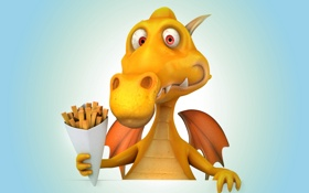Обои funny, dragon, дракон