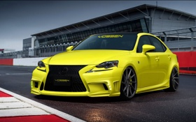 Обои желтый, tuning, лексус, автообои, F Sport, Lexus IS 350