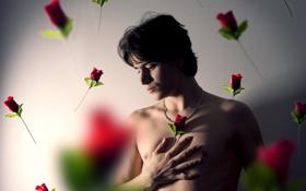 Картинка настроение, розы, парень