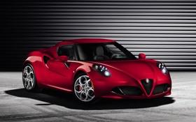 Обои передок, ерасный, Alfa Romeo, Альфа Ромео