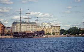 Обои река, Питер, Санкт-Петербург, Россия, Russia, спб, нева
