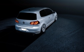 Обои VSP, Wheels, Rear, White, MK6, Stance, GTI