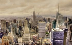Обои здания, город, Нью-Йорк, панорама, Манхэттен, небоскребы, New York