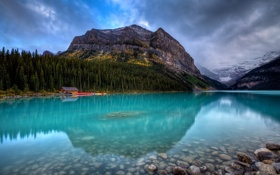 Обои Lake Louise, nature, Sinking