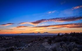 Картинка небо, облака, закат, горы, природа, США, Oregon