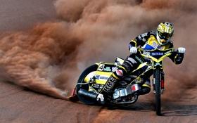Обои гонка, спорт, мотоцикл