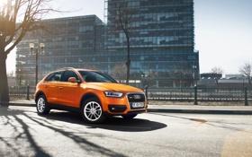 Обои Audi, City, Orange, Quattro, TFSI